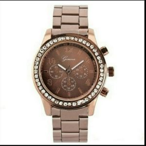 New Geneva Brown Wristband Watch